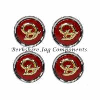 Alloy Wheel Badges Daimler Red & Gold MNA6249DB-S
