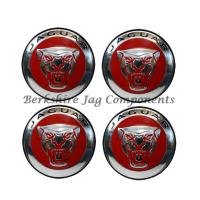 Alloy Wheel Badges Red and Silver C2D47107-S