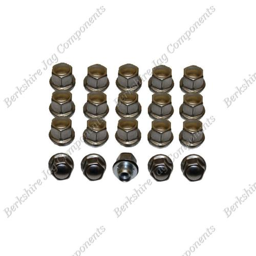 XJ8 Wheel Nuts Set Short Reach (Set of 20) CCC7028S