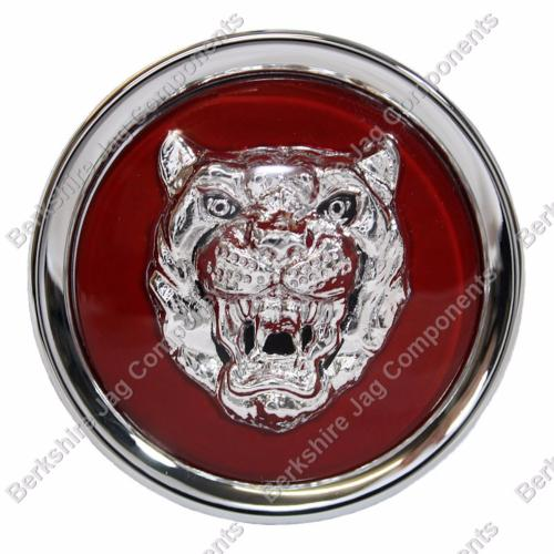 Alloy Wheel Badges Ruby Red and Silver MNA6249EA