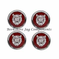 Alloy Wheel Badges Ruby Red and Silver MNA6249EA-S